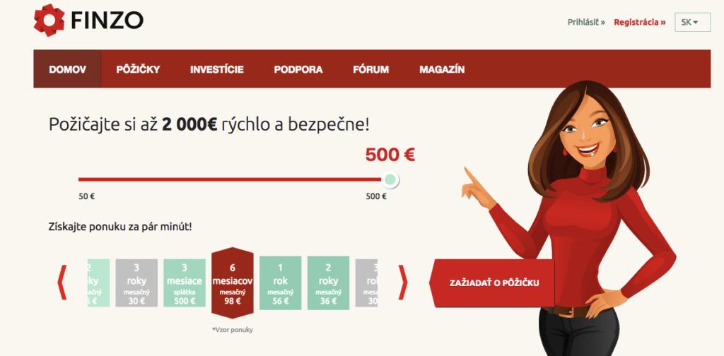 Investovanie do P2P pôžičiek cez web Finzo