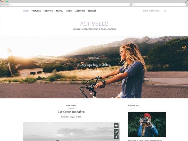 Activello WordPress šablóna zadarmo