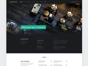 Auberge WordPress šablóna zadarmo