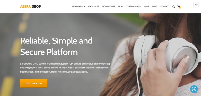 Azera WordPress šablóna zadarmo