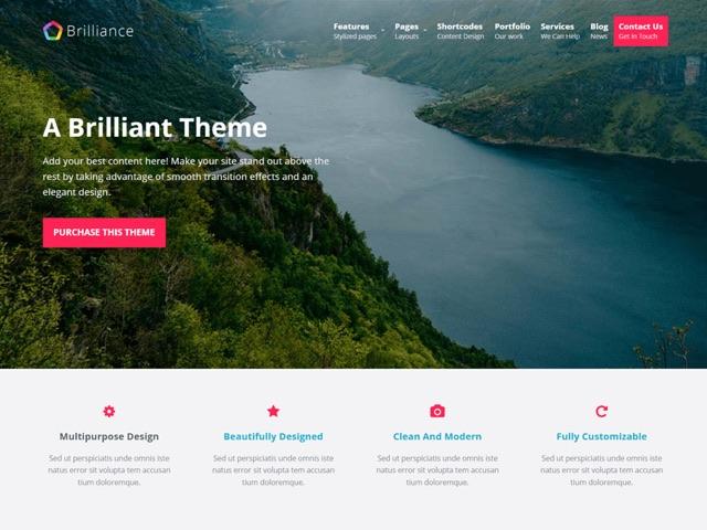 Brilliance WordPress šablóna zadarmo