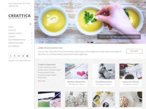 Creattica WordPress šablóna zadarmo