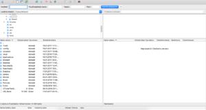 FileZilla po spustení.