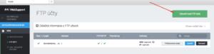 Nastavenie FTP účtu - krok 3