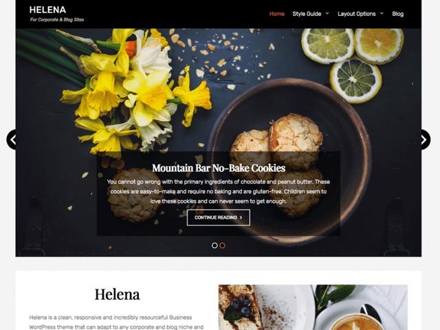 Helena WordPress šablóna zadarmo