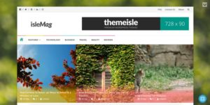 IsleMag WordPress šablóna zadarmo