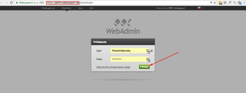 Inštalácia WordPress krok 1