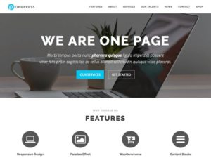One Press WordPress šablóna zadarmo