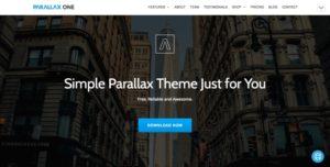 Parallax One WordPress šablóna zadarmo