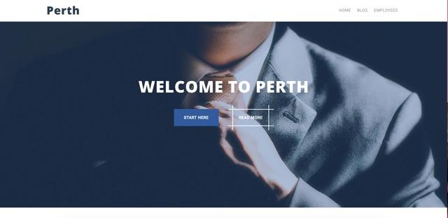 Perth WordPress šablóna zadarmo