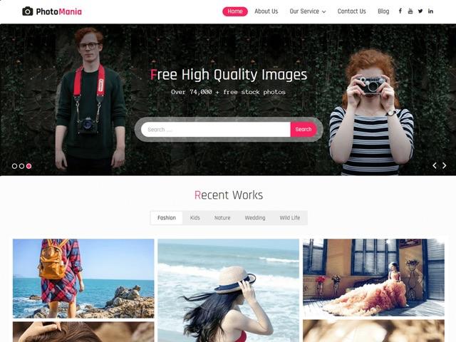 Photomania WordPress šablóna zadarmo