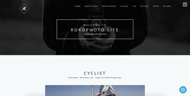 Rokophoto Lite WordPress šablóna zadarmo