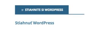 Odkaz na stiahnutie WordPressu