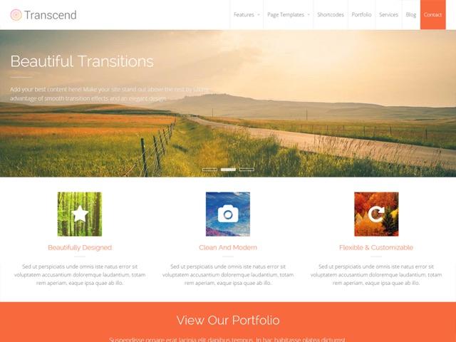 Transcend WordPress šablóna zadarmo