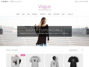 Vogue WordPress šablóna zadarmo
