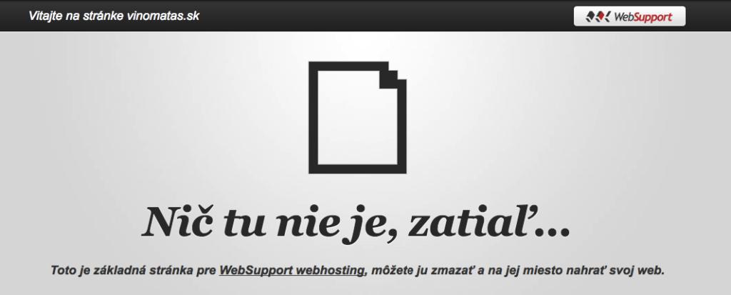 WebSupport prázdna stránka