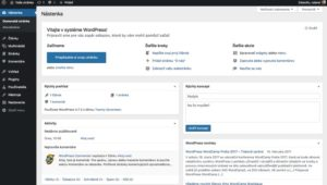 Screnshot WordPress administrácie