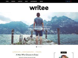 Writee WordPress šablóna zadarmo