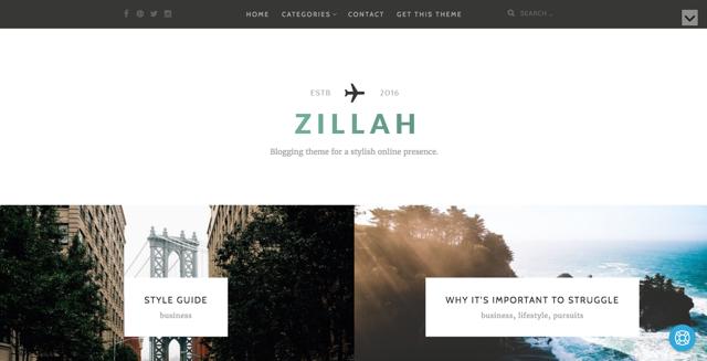 Zillah WordPress šablóna zadarmo