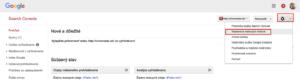 Search Console - nastavenie web stránok