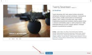 Aktivácia WordPress témy