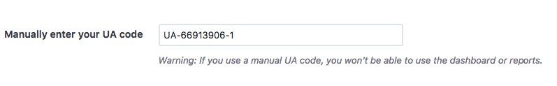 Google Analytics - ID sledovania