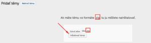 Inštalácia WordPress témy