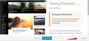Ako vymazať tému z WordPressu