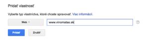 Pridanie verzie s www do Search Console