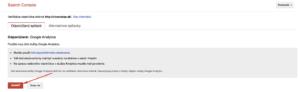 Overenie Search Console účtu