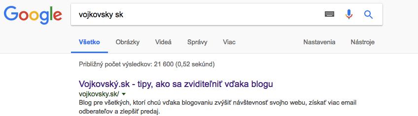 Slogan WordPress stránky