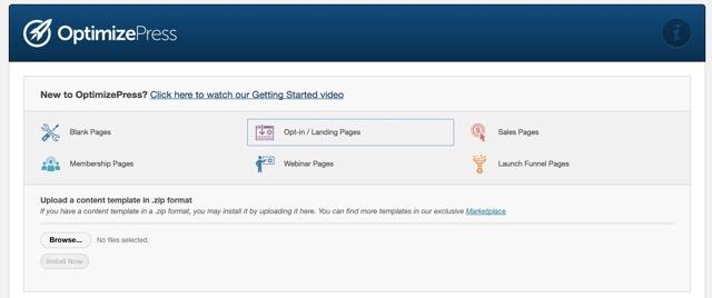 možnosti landing pages