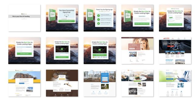 Šablóny Thrive landing pages