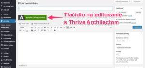 editovanie s TA na stránke