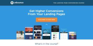 Ukážka landing page od Unbounce